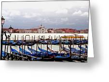 Gondolas In Venice Greeting Card