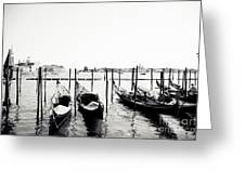 Gondolas Of Venice Greeting Card