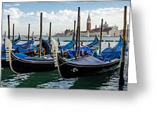 Gondolas On The Grand Canal Greeting Card