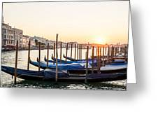Gondolas Sunrise 00323 Greeting Card