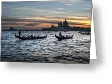Gondole Al Tramonto Sam210x Greeting Card