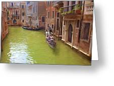 Gondoles In Venice Italy Greeting Card