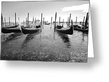 Gondolier In The Distance Greeting Card