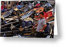 Gondolier In The Morning Greeting Card