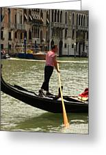 Gondolier With Matching Socks Greeting Card