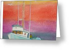 Gone Fishing At Midnight  Greeting Card