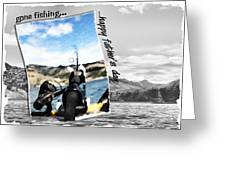 Gone Fishing Father's Day Card Greeting Card