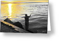 Gone Fishing Greeting Card