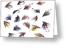 Gone Fishing Greeting Card by Meirion Matthias