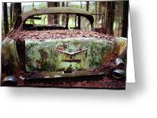 Gone Girl Old Car Image Art Greeting Card by Jo Ann Tomaselli
