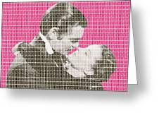 Gone With The Wind - Pink Greeting Card