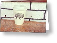 Good Coffee Greeting Card