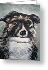 Good Dog By Christine Lites Greeting Card by Allen Sheffield