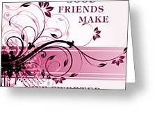 Good Friends Message Greeting Card