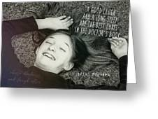 Good Laugh Quote Greeting Card