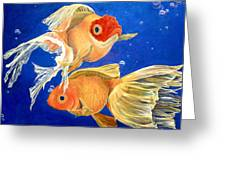 Good Luck Goldfish Greeting Card