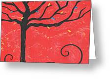 Good Luck Tree - Left Greeting Card by Kristi L Randall