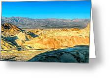 Good Morning From Zabriskie Point Greeting Card