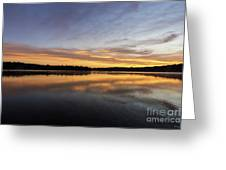 Good Morning Lake Springfield Greeting Card