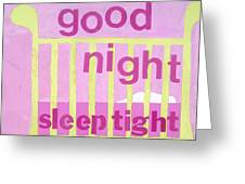 Good Night Baby Greeting Card