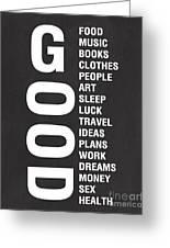 Good Things Greeting Card by Linda Woods