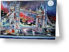 Goodnight Tower Bridge Greeting Card
