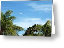 Goodyear Blimp Spirit Of Innovation In Florida Greeting Card
