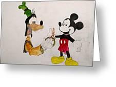 Goofy And Mickey Greeting Card