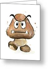 Goomba Watercolor Greeting Card