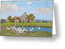 Goose Girl At Sablons Greeting Card
