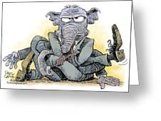 Gop Tied Up In A Knot Greeting Card