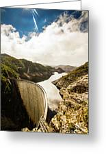 Gordon Dam Tasmania  Greeting Card