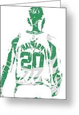 Gordon Hayward Boston Celtics Pixel Art T Shirt 5 Greeting Card