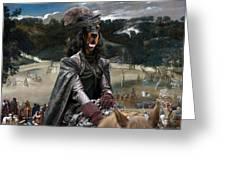 Gordon Setter Art Canvas Print - Philip Iv Hunting Wild Boar  Greeting Card