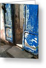 Goree Door Texture Greeting Card