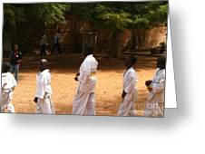 Goree Karate  Greeting Card by Fania Simon