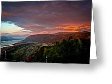 Gorge Sunset Greeting Card