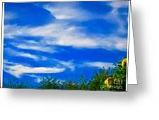Gorgeous Blue Sky With Clouds Greeting Card
