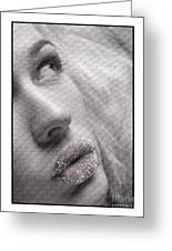 Gorgeous Girl With Sugar On Her Lips Greeting Card