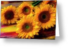 Gorgeous Lovely Sunflowers Greeting Card