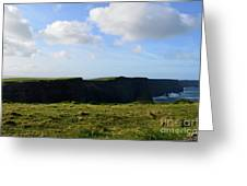 Gorgeous Seascape Along The Cliffs Of Moher In Ireland Greeting Card