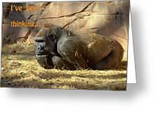 Gorilla Musings Greeting Card