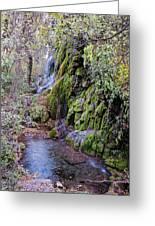 Gorman Falls At Colorado State Park - San Saba Texas Hill Country Greeting Card