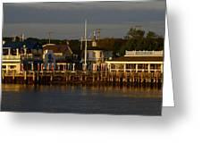 Gosman's Dock Early Morning Greeting Card