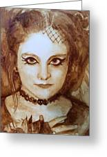 Goth Lady Greeting Card
