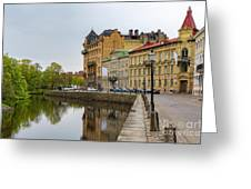 Gothenburg Canal And Park Greeting Card
