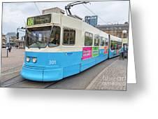 Gothenburg City Tram Greeting Card