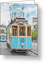 Gothenburg Liseberg Tram Greeting Card