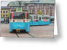 Gothenburg Public Tram Greeting Card