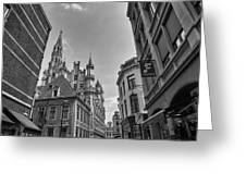 Gothic And Modern In Brussels Greeting Card